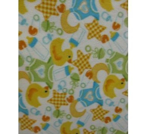 Items similar to baby mix fleece fabric by the yard on etsy for Children s flannel fabric by the yard