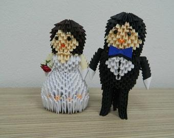3D Origami Bride & Groom