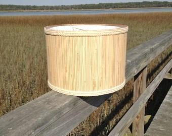 Drum Lamp Shade Seagrass and Natural Jute Medium Custom Lampshade