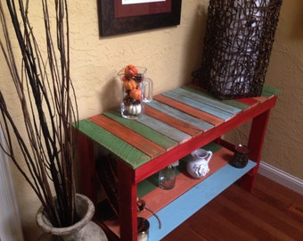 Rustic Pallet: Sofa Table