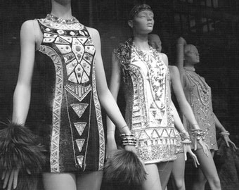 Fashion Decor, Canvas Art, Great Gatsby, Art Deco, New York City Photography, Square Wall Art, Black and White Photography, Girls Wall Art
