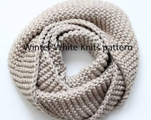 Pattern- knit scarf, PDF Instant Download Knitting Pattern, hand knit scarf pattern, NOT a finished product, a make it yourself tutorial