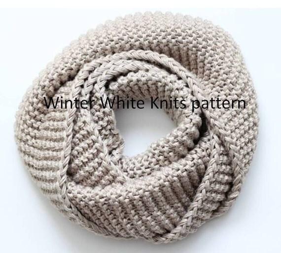 Pattern Knit Scarf Pdf Instant Download Knitting Pattern Hand