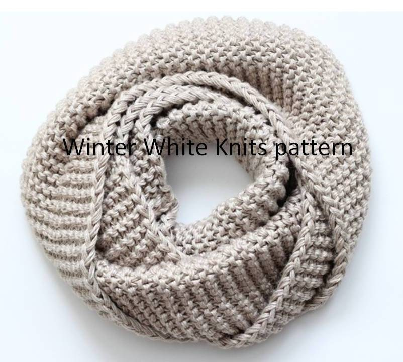 Pattern knit scarf pdf Instant Download KNITTING PATTERN