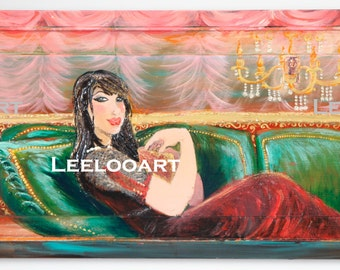 The victorian- Digital image of an original painting makes by Leelooart.