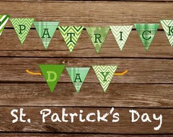 DIY Printable St. Patrick's Day Pennant Banner
