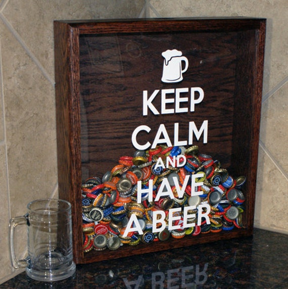 Hanging or tabletop bottlecap holder by inspiredmill on etsy for Beer bottle picture frame
