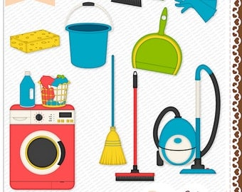 Cleaning Day Digital Clip Art