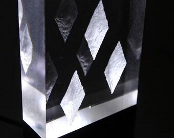 Acrylic Block LED Picture - White