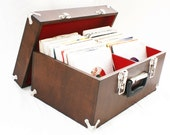 Wooden Record Case / Box (up to 220 45s)