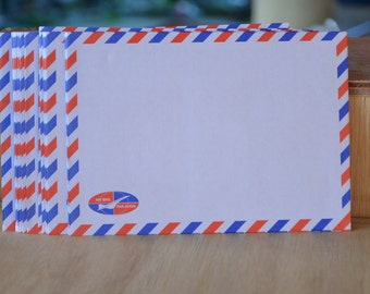 "Set of 50 or 60 Airmail Envelopes - 6.4"" x 4.5"""