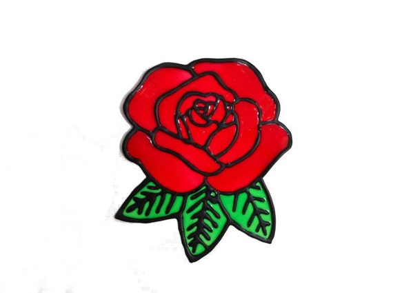 Home Decal Decor Red Rose Peelable Sticker Window Decal