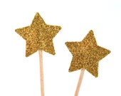20 Toothpicks star Double Sided- Party Picks, Cupcake Topper, Baby Shower Decoration, Birthday Pick