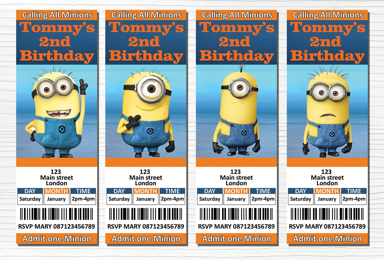 Personalized Minion Birthday Invitations as adorable invitations layout
