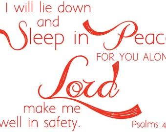 Psalm 4:8 | Scripture Wall Decal