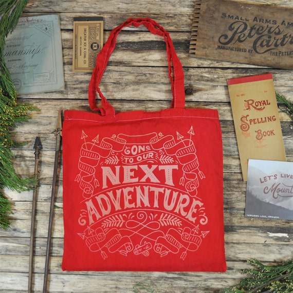 On to our Next Adventure - Red Tote