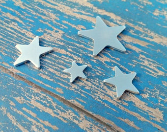 "Aluminum 5/8"" Star Stamping Blanks - 18 Gauge Aluminum Blanks"