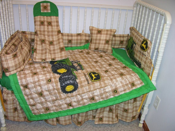 John Deere Crib Sets For Boys : New john deere crib nursery bedding set