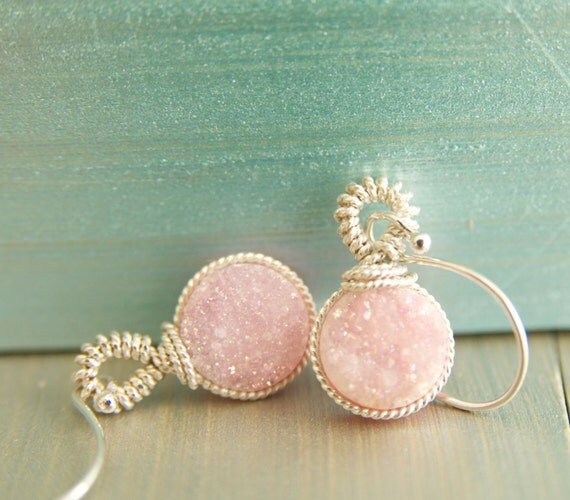 Beautiful druzy earrings