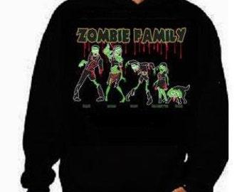 hoodies:zombie family hoodie sweater shirt hoody funny