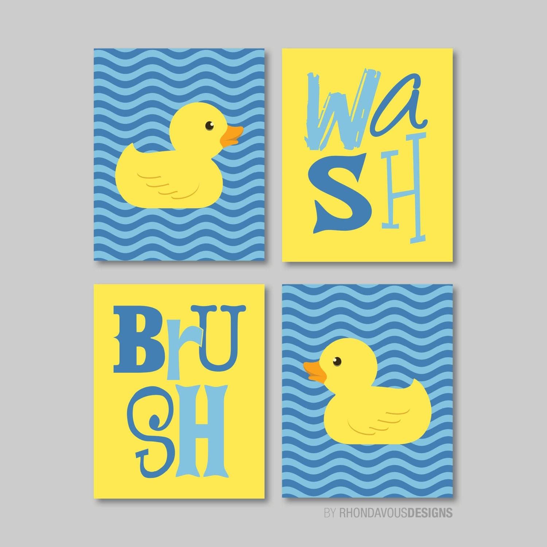 Kids bathroom art kids bathroom decor rubber ducky for Rubber ducky bathroom ideas