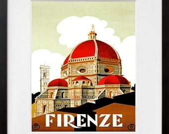 Italy Travel Poster Art Florence Tourism Print (TR34)