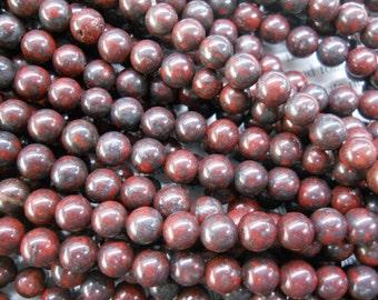 8mm mahogany obsidian round beads, 15.5 inch