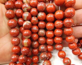 12mm red jasper round beads, natural red jasper beads. 15.5 inch