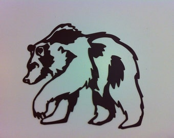 Large Grizzly Bear Metal Wall Art  Metal Grizzly Wall Decor