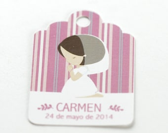 10 Personalized Favor Tags, Personalized Gift Tags, Custom Product Labels or Hang Tags, Thank you Tags