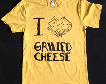 I LOVE grilled cheese tee mens