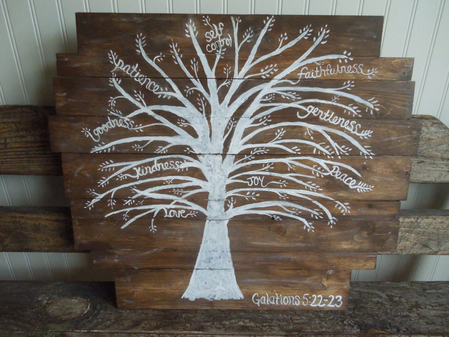 Fruits Of The Spirit Tree Galations 5 22 23 Wood By