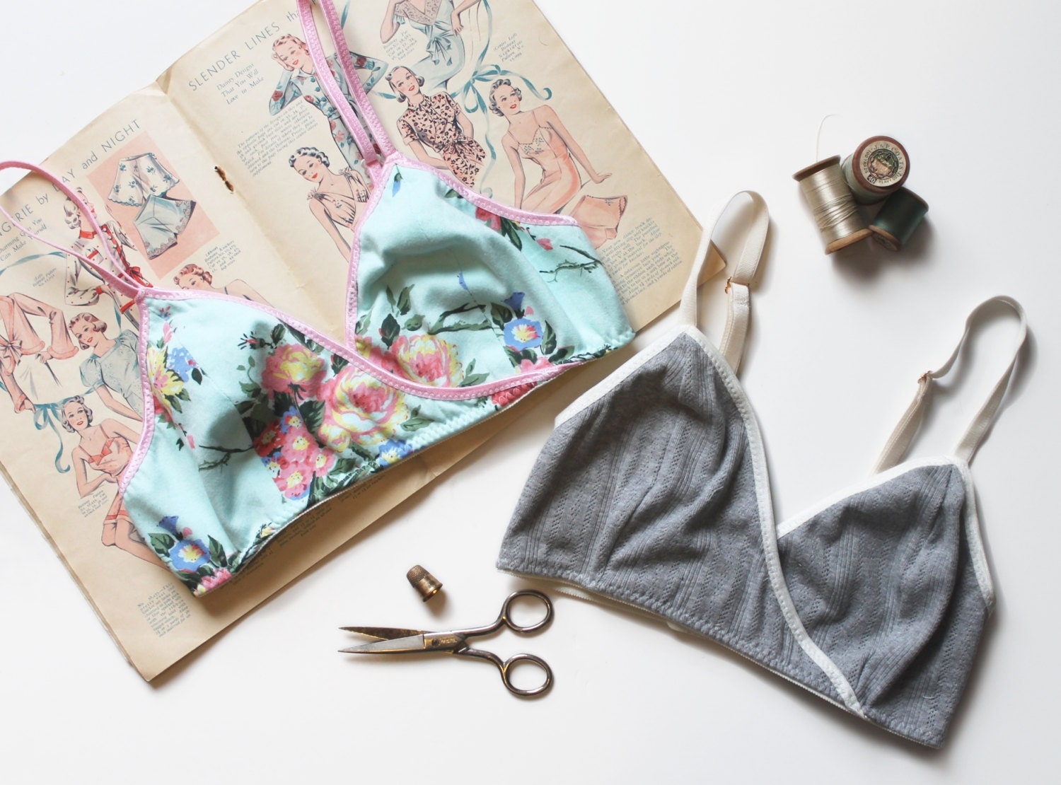 Sewing Pattern Triangles Bralette Sewing Pattern Ohh