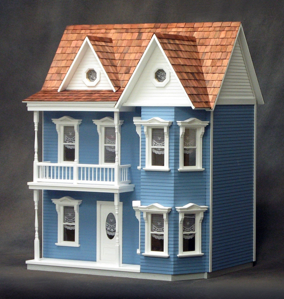 Princess anne unfinished dollhouse kit for Victorian kit homes