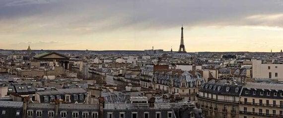 Items similar to printed photography of paris la tour for La fenetre panoramique