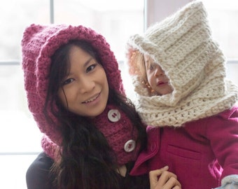 Crochet Hooded Cowl **Made to order**