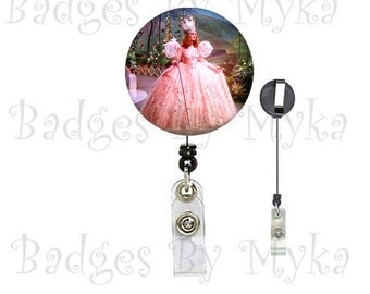 Retractable ID Badge Holder - Glinda the Good Witch