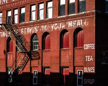 Holsum Foods Building with Fire Escape, West Bottoms Warehouse District, Kansas City, MO, Fine Art Photography by Pitts Photography