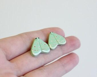 Moth Earrings- Comostola laesaria