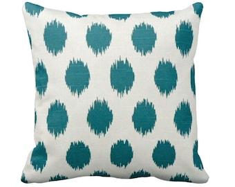 7 Sizes Available: Throw Pillow Decorative Pillow Pillow Cover Pillow Sham Sofa Pillow Green Pillow Teal Pillow Teal Decor Ikat Pillow