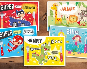 Children's Personalised Character Place Mat