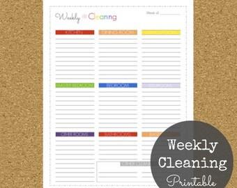 Weekly Cleaning Printable
