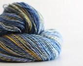 "DOUBLES:  Sport weight handspun yarn. 390 yds. Cloudlover Polwarth in ""Hyacinth""."