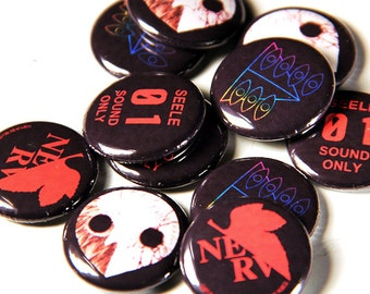 Evangelion Pinback Button Set