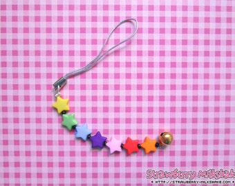 Cellphone Charm *Rainbow Stars* (Cheerful Line)
