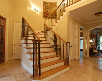 Antique pine stairtreads made from reclaimed lumber