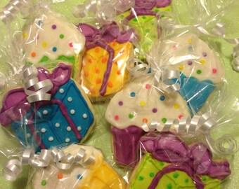 Sugar Cookies: Presents and Cupcakes 1 Dozen (12)