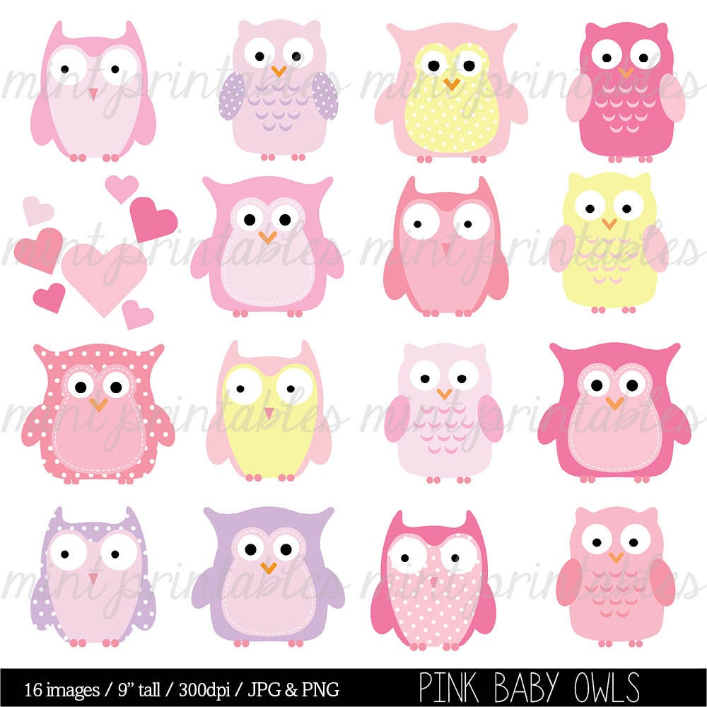 b b chouette hibou clipart clipart animal baby shower. Black Bedroom Furniture Sets. Home Design Ideas