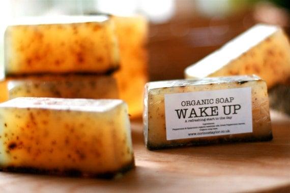WAKE UP Organic Soap. Vegan friendly. 100g bar.
