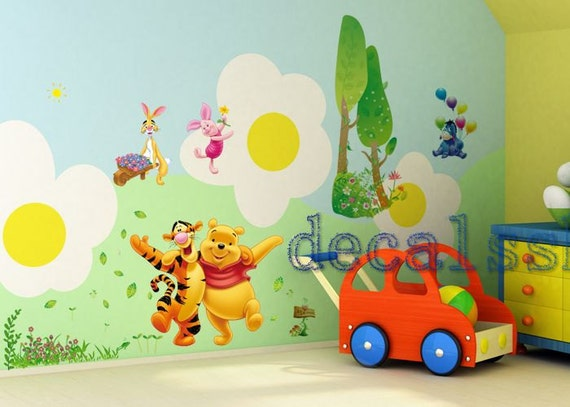 Items similar to vinyl winnie the pooh decal winnie the - Wall stickers camerette ...